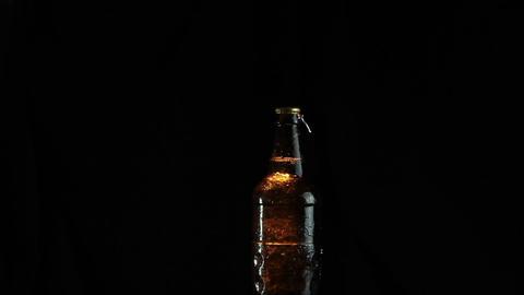 Beer bottle is opened Footage