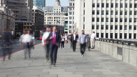 Time Lapse Shot Of Tourists And Commuters Crossing Live Action