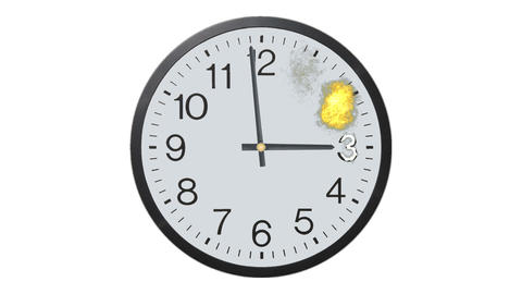 Exploding Clock Time Lapse Stock Video Footage
