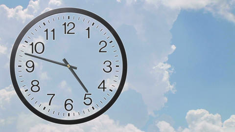 Clock With Clouds Time Lapse 02 Stock Video Footage