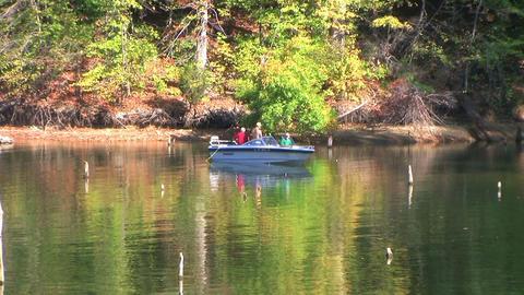 Fishermen in Boat Footage