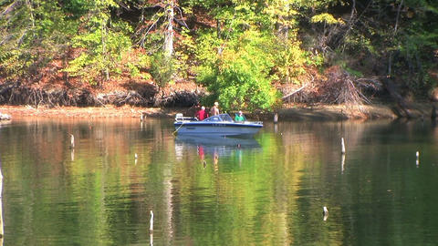 Fishermen in Boat Stock Video Footage