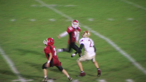 Football Interception Stock Video Footage