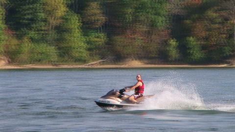 Jet Ski Sprays Water Footage