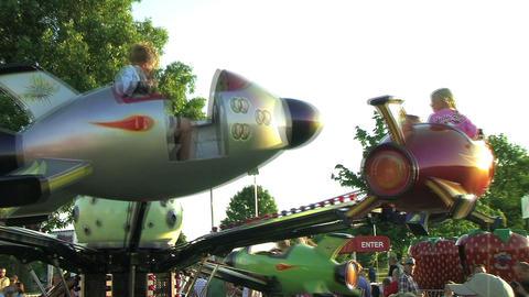 Rocket Ship Ride Stock Video Footage