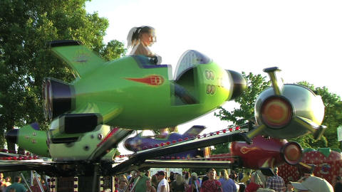 Rocket Ship Ride Stock Video Footage