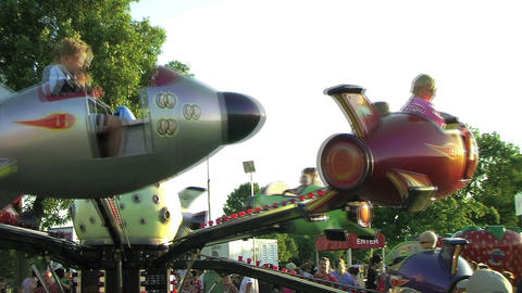 Rocket Ship Ride Footage