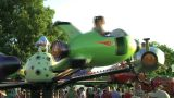 Rocket Ship Ride stock footage