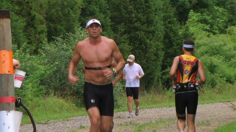 Runners Jogging In Race 02 Stock Video Footage