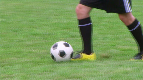 Soccer Player Dribbling 02 Stock Video Footage
