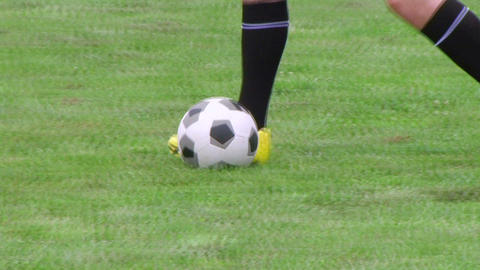 Soccer Player Dribbling 02 Footage