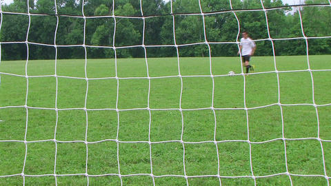 Soccer Goal Kick Stock Video Footage
