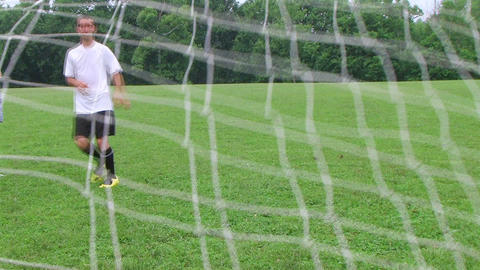 Soccer Goal Kick Footage
