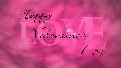 Happy Valentine's Day Part 1 Stock Video Footage