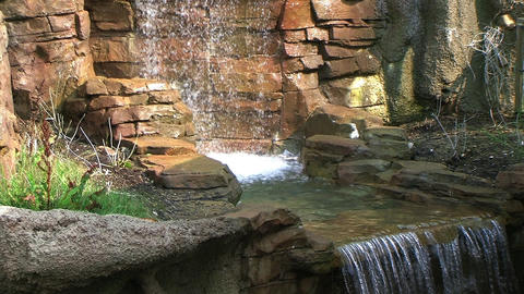 Stone Waterfall Stock Video Footage