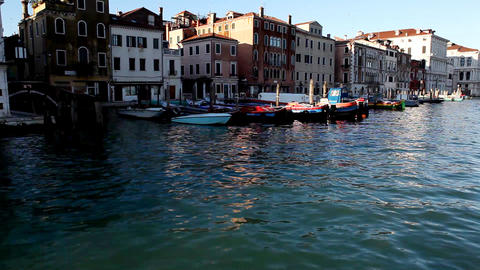8780 Pan on Venice from boat Footage