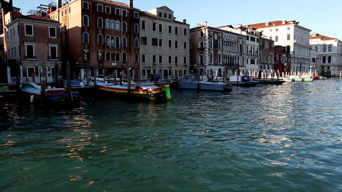 8780 Pan on Venice from boat Stock Video Footage