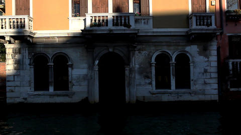 8786 Pan on Venice from boat Stock Video Footage