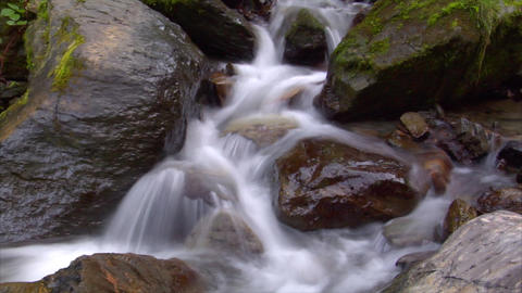 time lapse water flow cascade Stock Video Footage