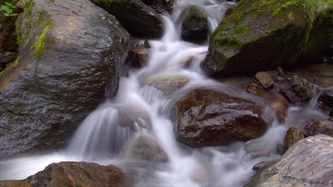 time lapse water flow cascade Footage