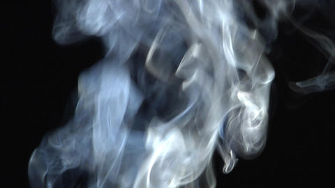 Smoke series: tricolour smoke up Stock Video Footage