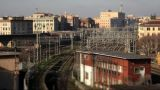 Train Timelapse 02 Tilt Shift stock footage
