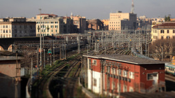 Train timelapse 02 Tilt Shift ビデオ