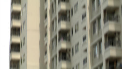 suicide building jump v1 wide Stock Video Footage
