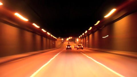 City tunnel Stock Video Footage
