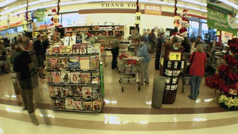 Supermarket timelapse 02 Footage