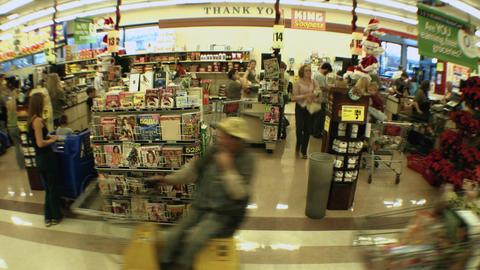 Supermarket timelapse 02 Stock Video Footage