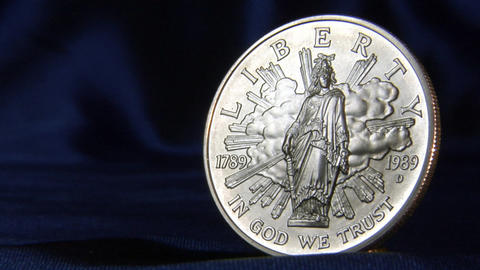 silver dollar pan left Stock Video Footage