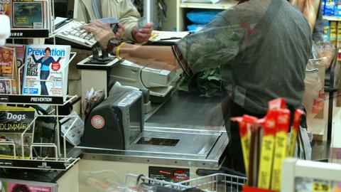 Supermarket timelapse 04 Stock Video Footage