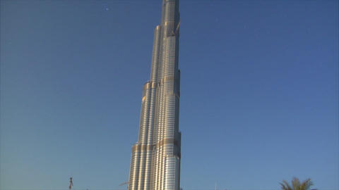 Burj Dubai speed ramp stars Stock Video Footage