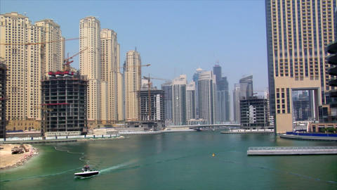 boat dubai marina speed ramp Footage