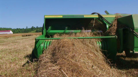 Square Baling Hay Stock Video Footage