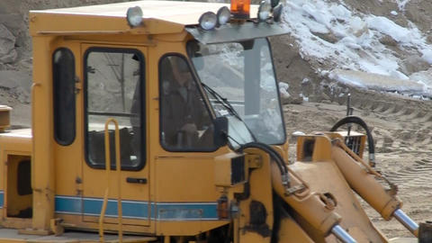Dig Tractor stock footage