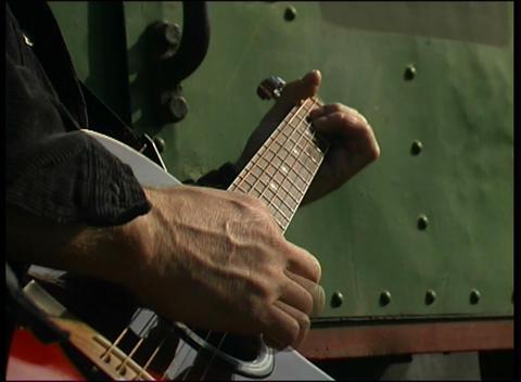 man plays guitar Stock Video Footage