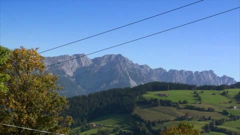 ropeway crossing high alp wide Stock Video Footage