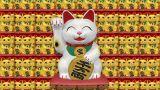 Beckoning Cat Big Smile W Sa 2 stock footage