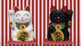Beckoning Cat 2 Smile Wb Sa stock footage