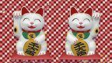Beckoning Cat 2 Big Smile Ww Sa stock footage