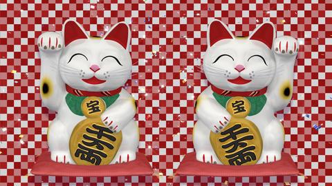 Beckoning Cat 2 Big smile ww sa Stock Video Footage