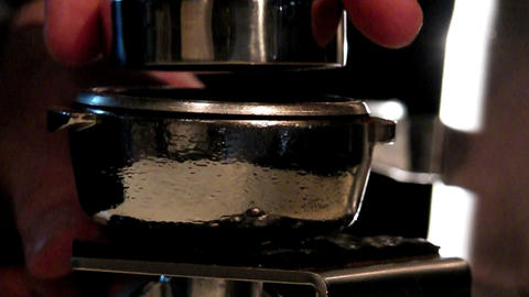 pressing coffee Footage