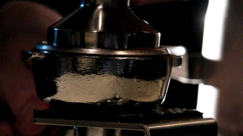 pressing coffee Stock Video Footage