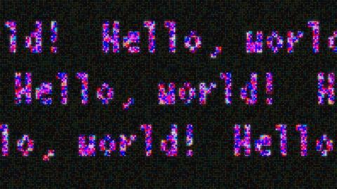 hello world 動画素材, ムービー映像素材