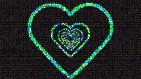 heart waves Stock Video Footage