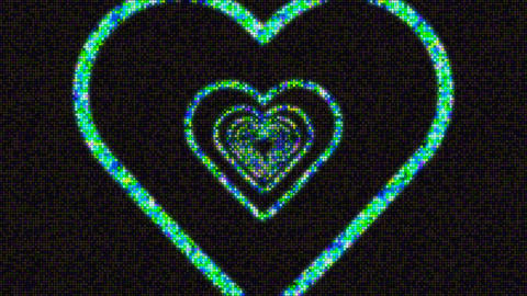 heart waves CG動画素材