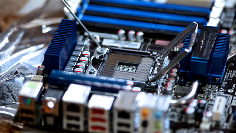 computer service - set cpu Stock Video Footage
