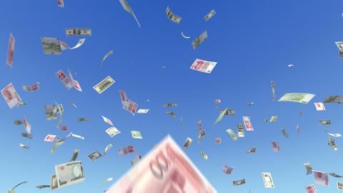 Money Dollar Euro Yen RMB L a HD Stock Video Footage